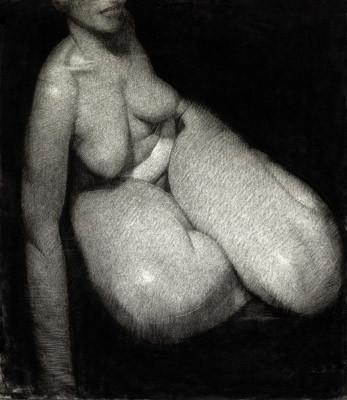 Autoportrait, pastel sur papier, 75 x 65 cm, 1998