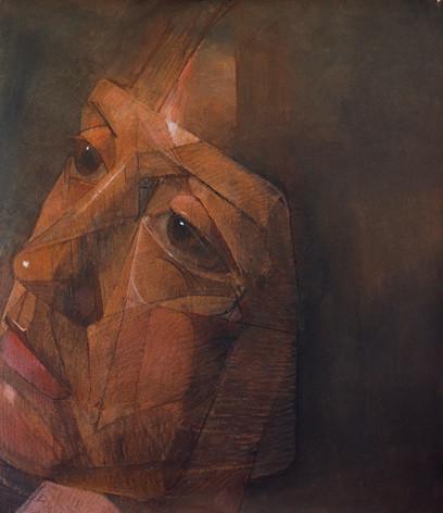 Cristina, pastel sur toile, 160 x 140 cm, 2002
