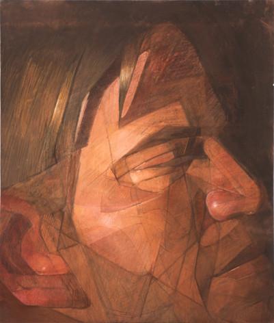 jim, pastel sur toile, 160 x 140 cm, 2002