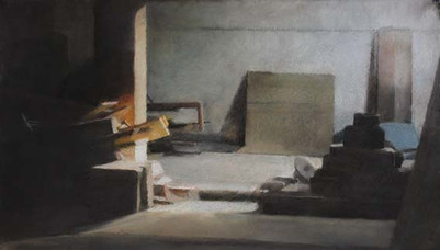 grenier, 65 x 45 cm, pastel sec