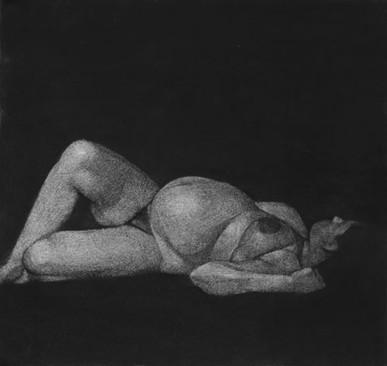 Autoportrait, pqstel sur papier, 33 x30 cm, 2011