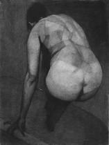 Autoportrait (1), 2013, pastel sec sur papier, 75 x 57 cm