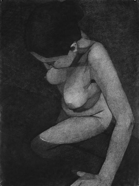 portrait (4), 2013, pastel sec sur papier, 75x57 cm