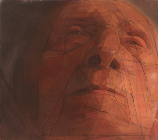 Mane 1, pastel sec sur toile, 124 x 141 cm, 2005