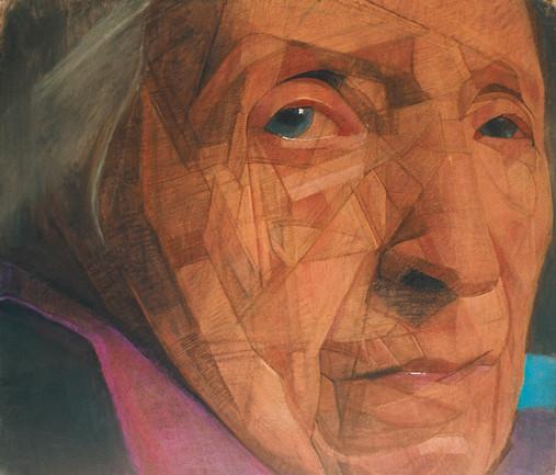 Mane 3, pastel sec sur toile, 124 x 141 cm, 2005