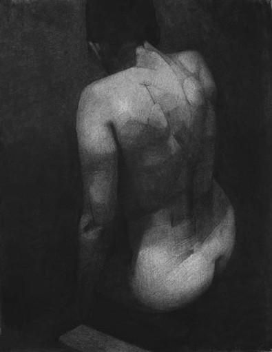 portrait (3), 2013, pastel sec sur papier, 75x57 cm
