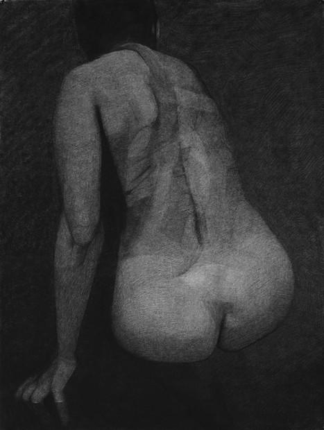 portrait (2), 2013, pastel sec sur papier, 75x57 cm
