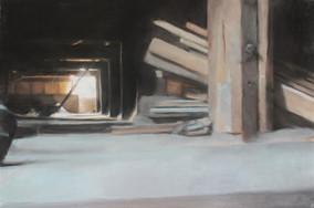 Grenier, 50 x 65 cm, pastel sec sur papier (filature ramond), 2016