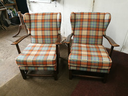Pair of Utility Chairs Reupholstery