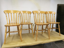 Lacquered_refinished dining chairs