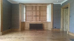 Old and New Oak floor, doors and shutters finished