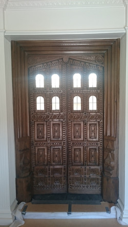 Renovationed and waxed Jacobean doors