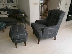 Check Armchair & Stool