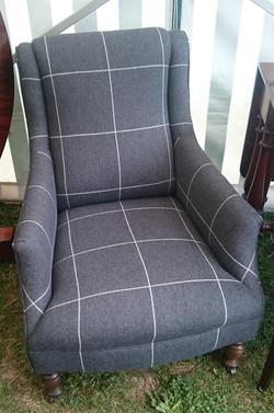Gentlemans Victorian Chair in modern Warwick fabric