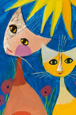 Calendario long 2018 con gatti di Rosina Wachtmeister