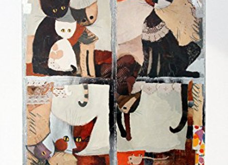 Finestra di gatti ( 50 x 40 cm )