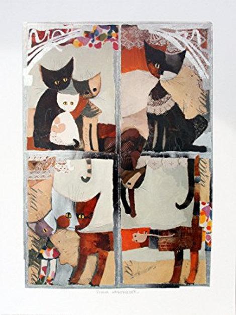 Finestra di gatti ( 60 x 80 cm )