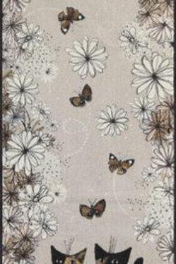 Gatti con fiori (190x75cm) - tappeto/zerbino Rosina Wachtmeister