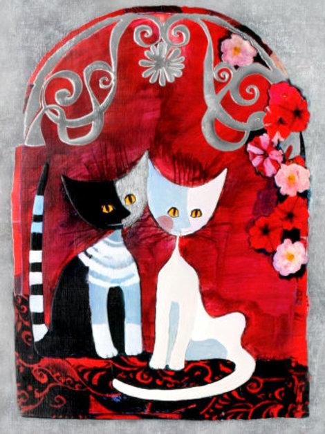 Les deux amis ( 50 x 40 cm )