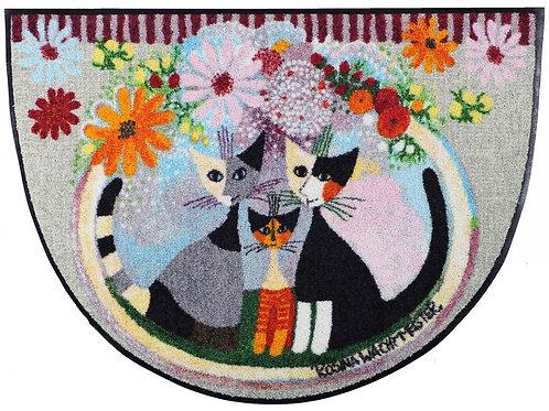 Famiglia con fiore (60x85cm) - tappeto/zerbino semicircolareRosina Wachtmeister