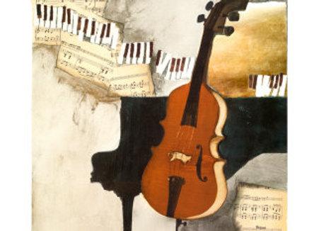 The cellist ( 70 x 50 cm )
