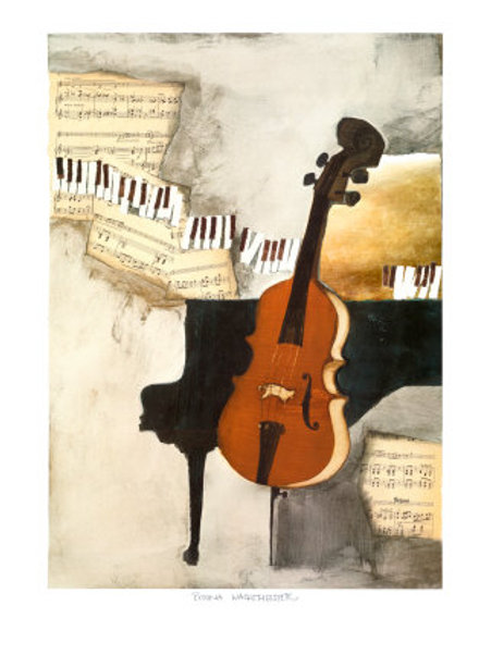 The cellist ( 70 x 50 cm )