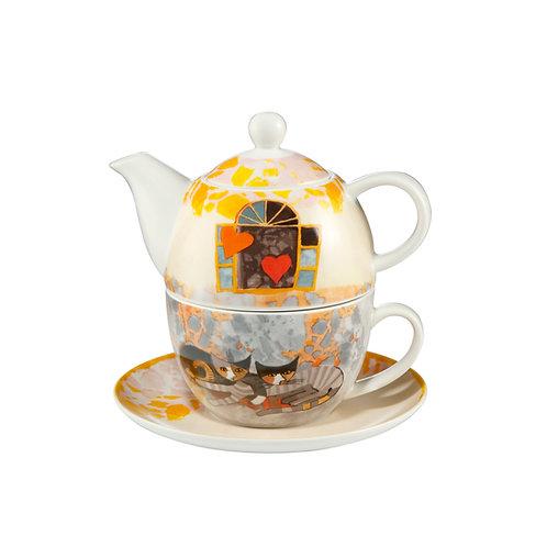 Amoroso Tea for One - teiera con tazza Rosina Wachtmeister