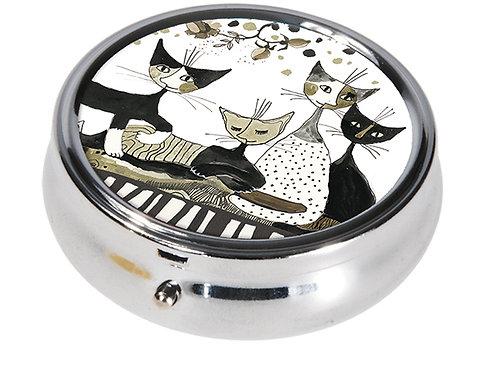 Portapillole Cats sepia rotonda Rosina Wachtmeister