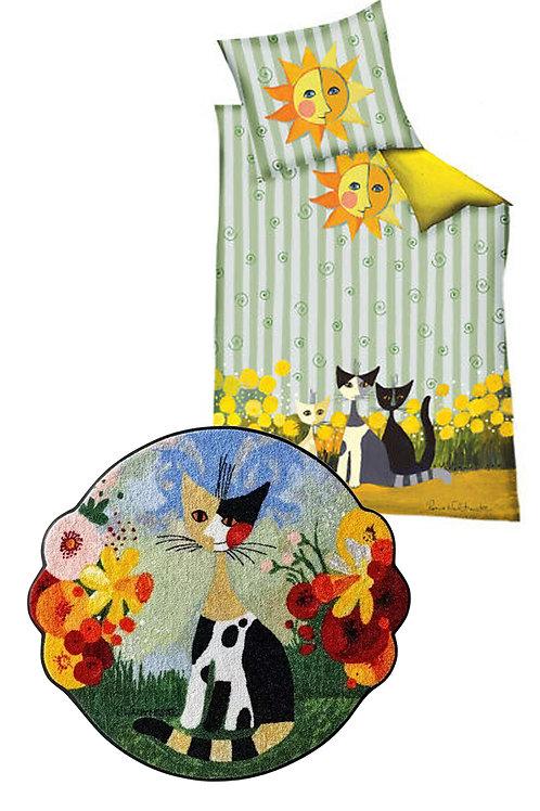 Set copripiumino con cuscino + tappeto