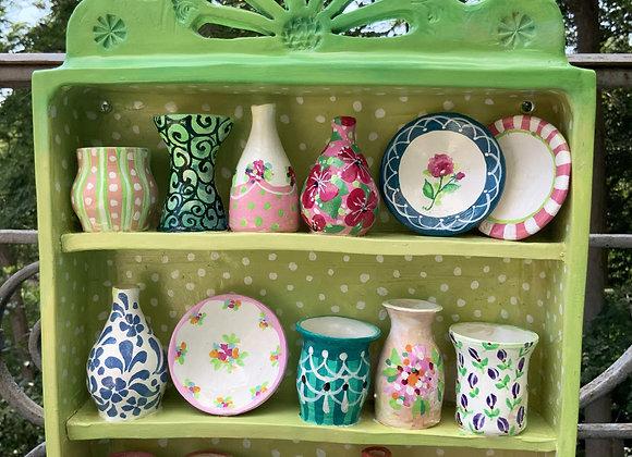 Ceramic Shelf of vases Unic piece Wachtmeister Werkstatt