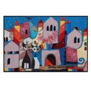 Little town (120x75) - tappeto/zerbino Rosina Wachtmeister