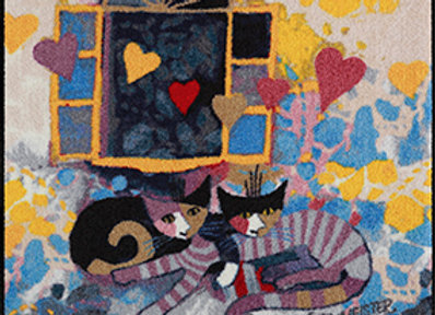 Flying Hearts (115x115cm) - tappeto/zerbino Rosina Wachtmeister