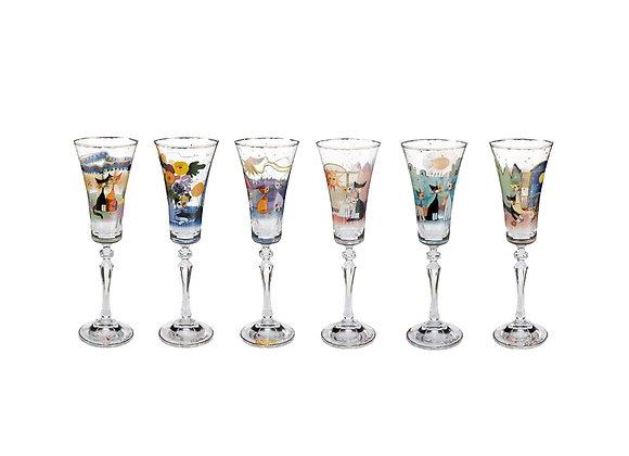 Set 6 calici in vetro - Rosina Wachtmeister