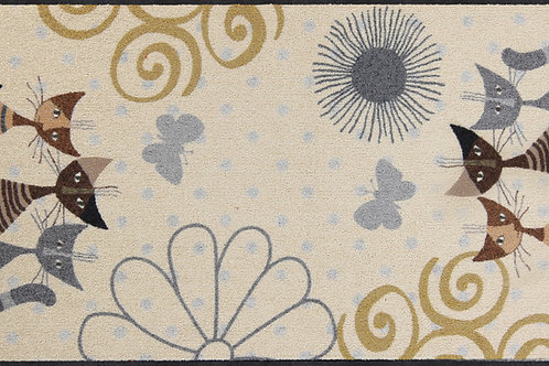 Fantasie di gatti (120x75cm) - tappeto/zerbino Rosina Wachtmeister