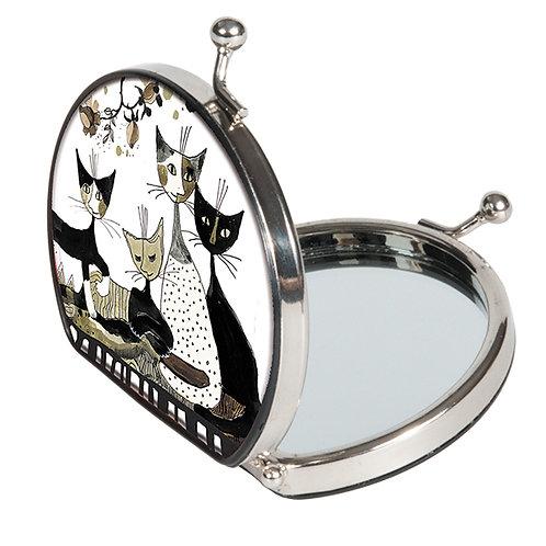 Pocket mirror Specchietto da borsa Cats sepia Rosina Wachtmeister