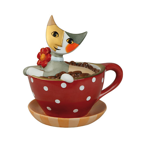 Pausa caffè - gatto salvadanaio Rosina Wachtmeister