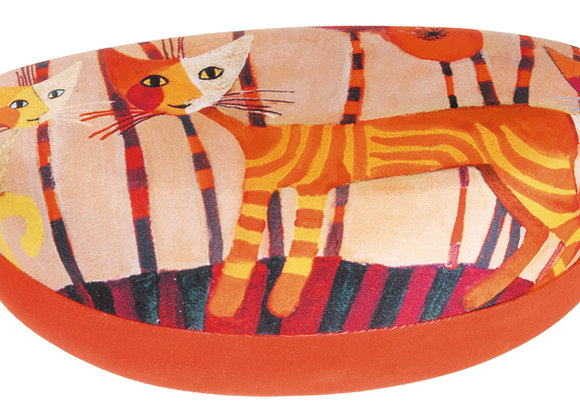 Portaocchiali Maxi Cats red flower Rosina Wachtmeister