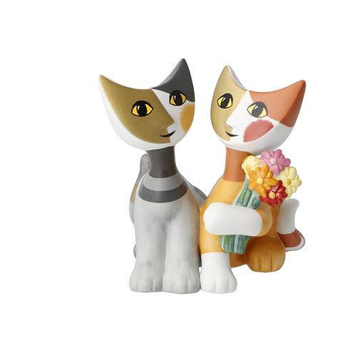 Mazzo di fiori - gatti in porcellana Rosina Wachtmeister