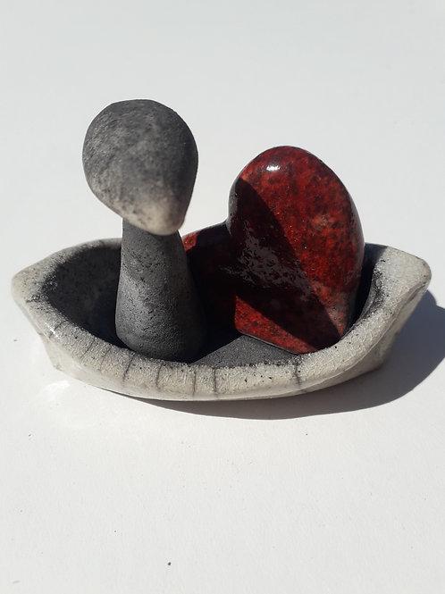 Boatlove4 - Raku Ceramic Wachtmeister Lab