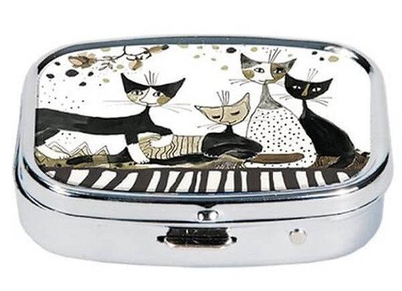 Porta pillole Cats sepia Rettangolare Rosina Wachtmeister