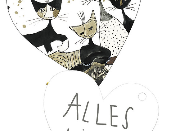 Etichette regalo Cats sepia Rosina Wachtmeister