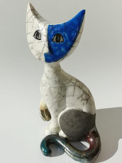 Cleo Cat - Raku Ceramic Wachtmeister Lab