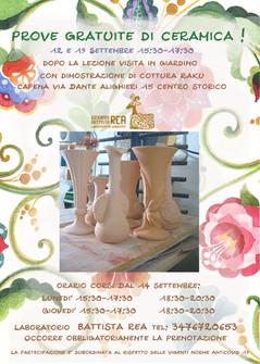 Corsi di ceramica nel laboratorio di Battista Rea