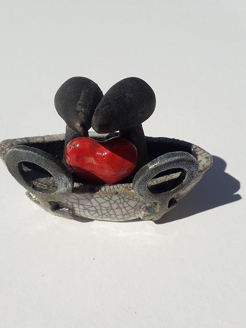 Boatlove2 - Raku Ceramic Wachtmeister Lab