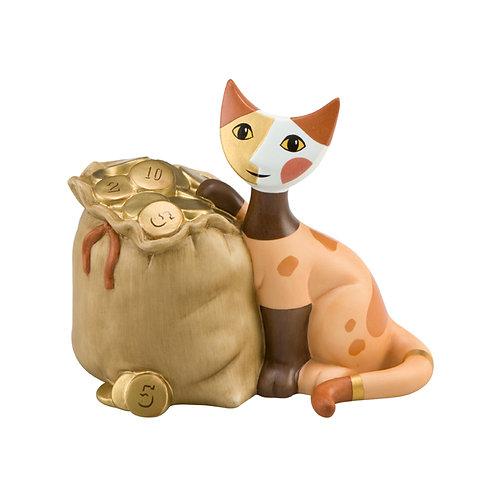 Borsa piena d'oro - salvadanaio gatto Rosina Wachtmeister