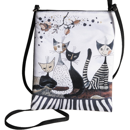 Cats Sepia - borsetta con tracolla Rosina Wachtmeister