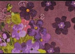 Maggio viola (120x75) - tappeto/zerbino Gabila