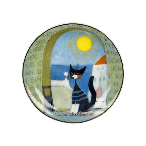 Il gatto e il mare - piattino Rosina Wachtmeister
