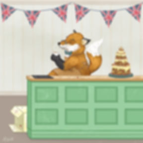 A wild Fox taking part in The Great British Bake Off