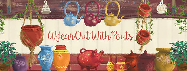 Illustrated Travel Blog header. Colourful ilustration of Chilean goods.